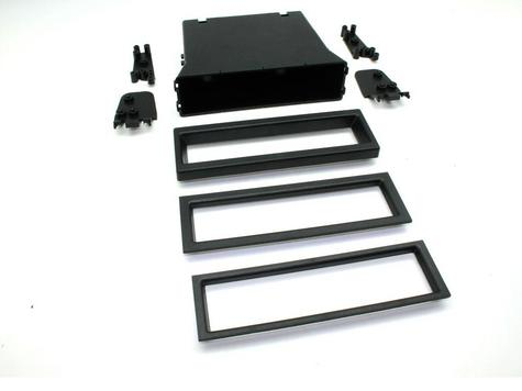 C2 24UV17/FP006 Universal Din Facia Plate(Black)Pocket Set With 3 Trim Sizes NEW Thumbnail 1