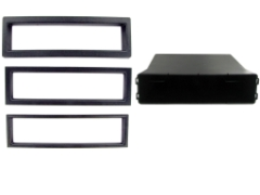 C2 24UV17/FP006 Universal Din Facia Plate(Black)Pocket Set With 3 Trim Sizes NEW Thumbnail 2