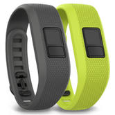 Garmin Vivofit 3 Pack of 2 Gray/Green Fitness Activity Bands 010-12452-01