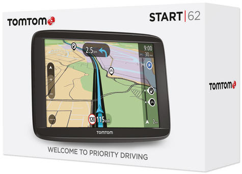 "Tomtom Start 62 6"" GPS SATNAV Free Lifetime UK & Western Europe Maps 1AA6.054.00 Thumbnail 6"