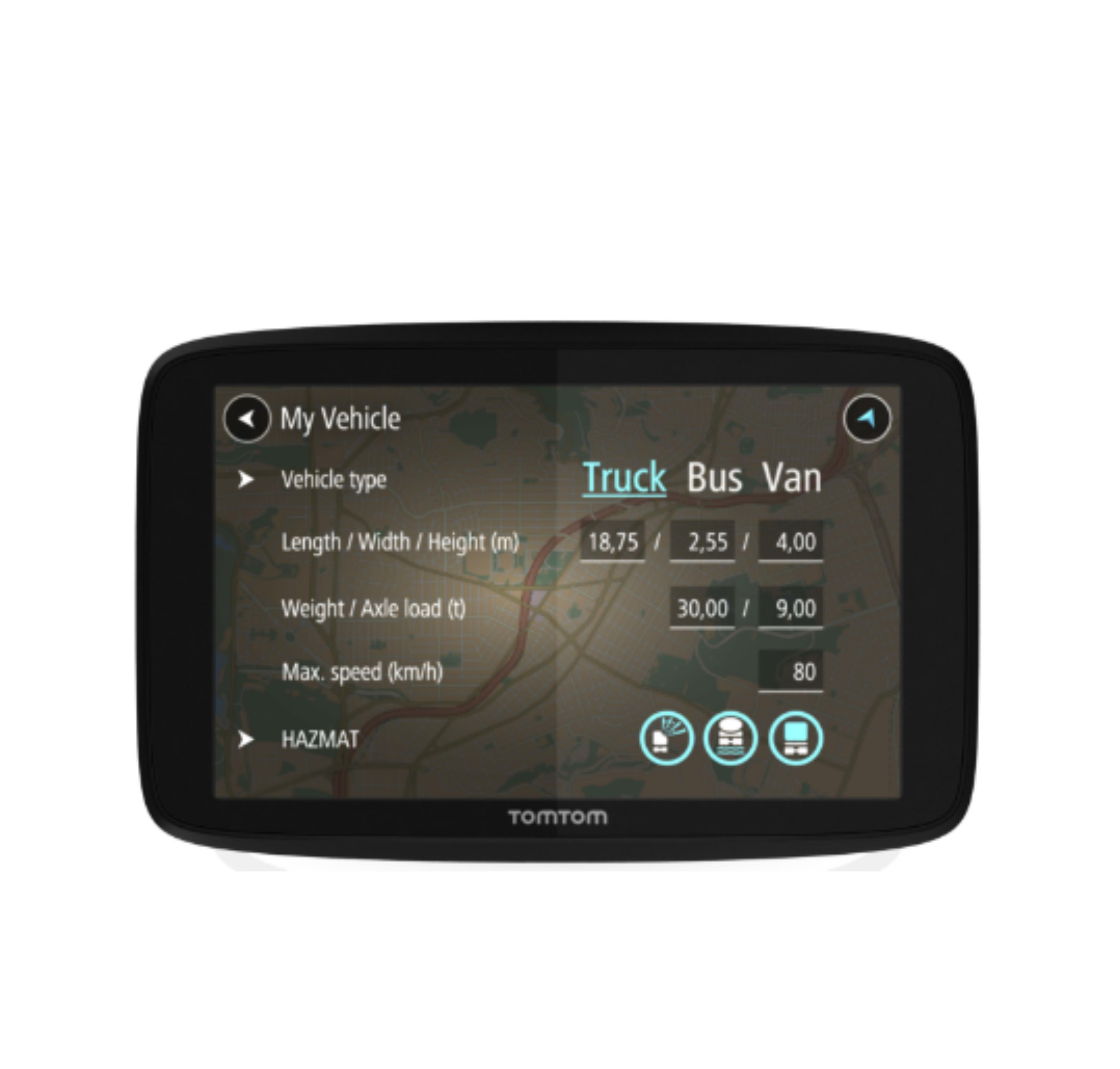 TomTom GO PRO 6200 EU Trucker GPS SatNav Truck Fleet Coach Van Free Lifetime Map
