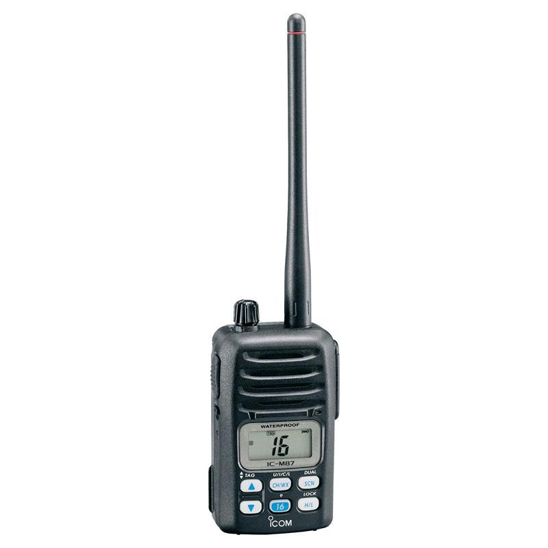 Icom IC-M87 Compact Waterproof Handheld Marine VHF / PMR