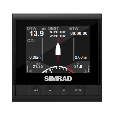 Simrad IS35 3.5-inch LCD Display Color Gauge Engine /  Vessel Data - NMEA2000 Thumbnail 2