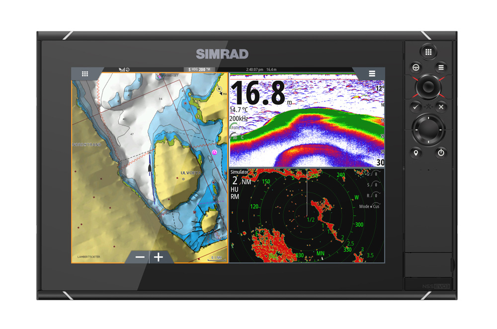 Simrad NSS12 evo3 Combo MFD c/w GPS Sounder Wi-Fi & HDMI out - World Base Map
