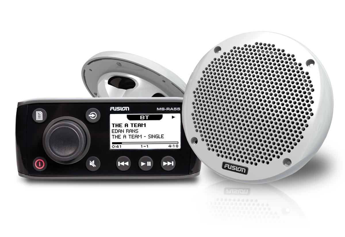"Fusion RA55 c/w EL602 6"" Most Compact Slimline Marine Speakers (PAIR) Bundle NEW"