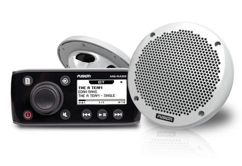 "Fusion RA55 c/w EL602 6"" Most Compact Slimline Marine Speakers (PAIR) Bundle NEW Thumbnail 1"