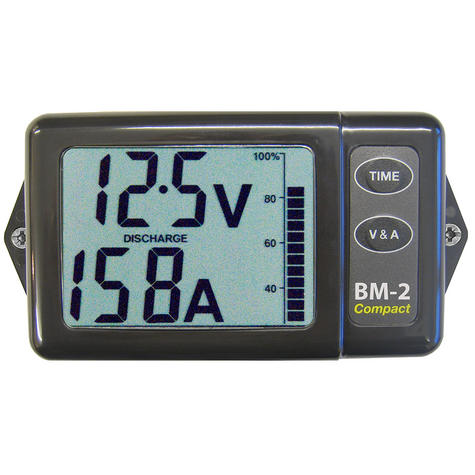 NASA Marine BM2 COMPACT Battery Monitor - 12VDC / 200amp Thumbnail 1