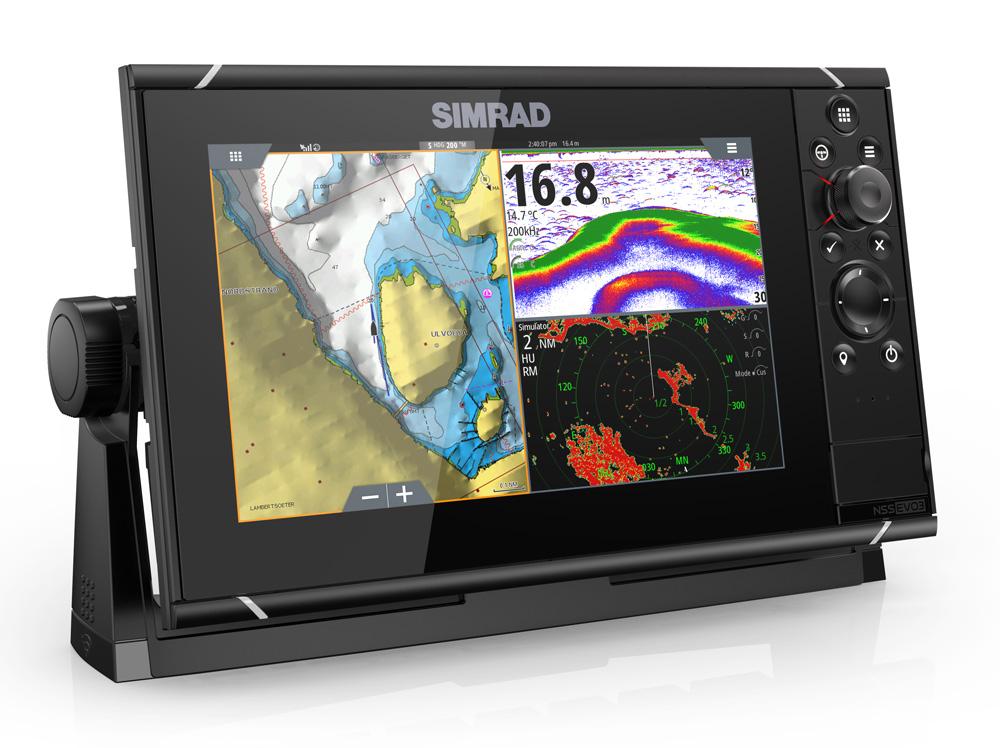 Simrad NSS9 evo3 Combo Mutli-function Display GPS Sounder & Wi-Fi WORLD BASE MAP