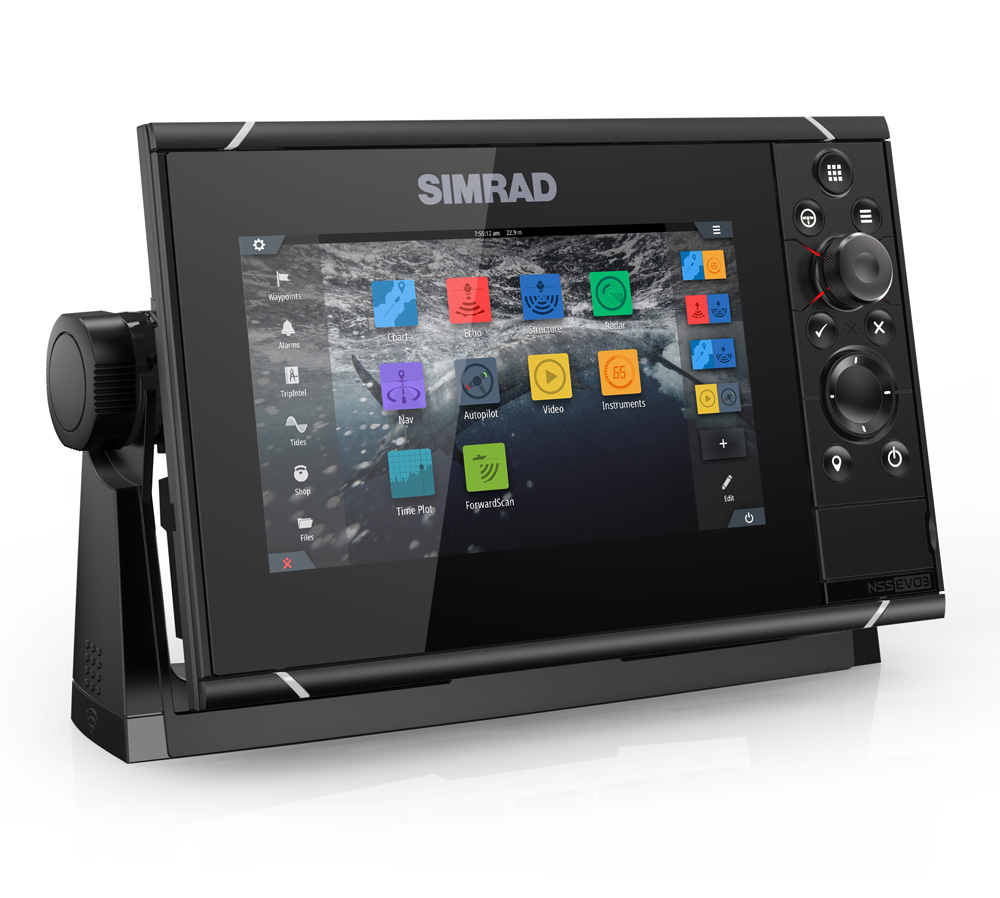 Simrad NSS7 evo3 Combo Mutli-function Display GPS Sounder & Wi-Fi WORLD BASE MAP