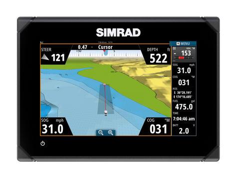 Simrad GO7 Multi Touch Chartplotter XSE Med / Hi / Downscan - No Charts c/w Txd Thumbnail 3
