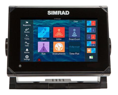 Simrad GO7 Multi Touch Chartplotter XSE Med / Hi / Downscan - No Charts c/w Txd Thumbnail 1