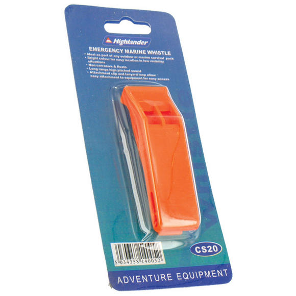 Highlander Emergency Marine Whistle Orange