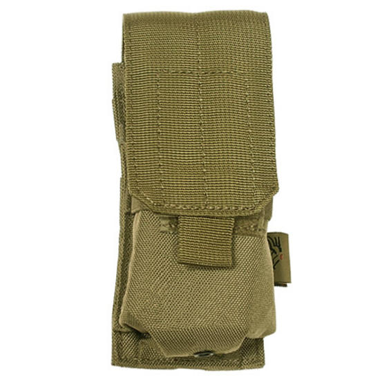 Flyye Single M4/M16 Magazine Pouch MOLLE Khaki