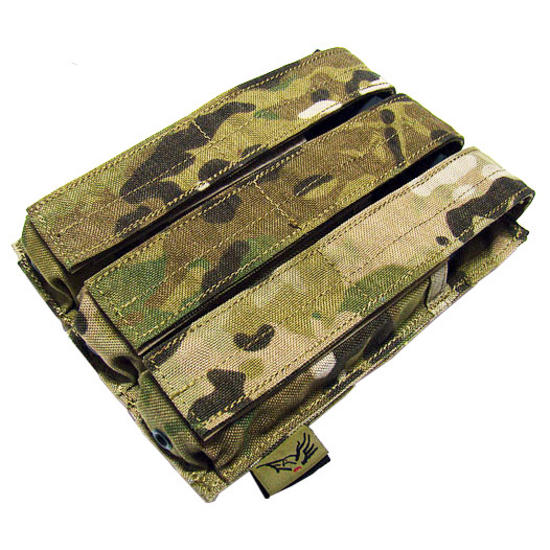 Flyye Triple MP5 Magazine Pouch MOLLE MultiCam