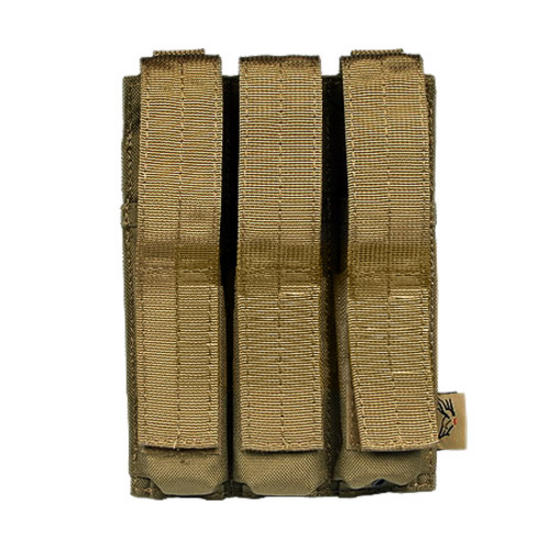 Flyye Triple MP5 Magazine Pouch MOLLE Coyote Brown