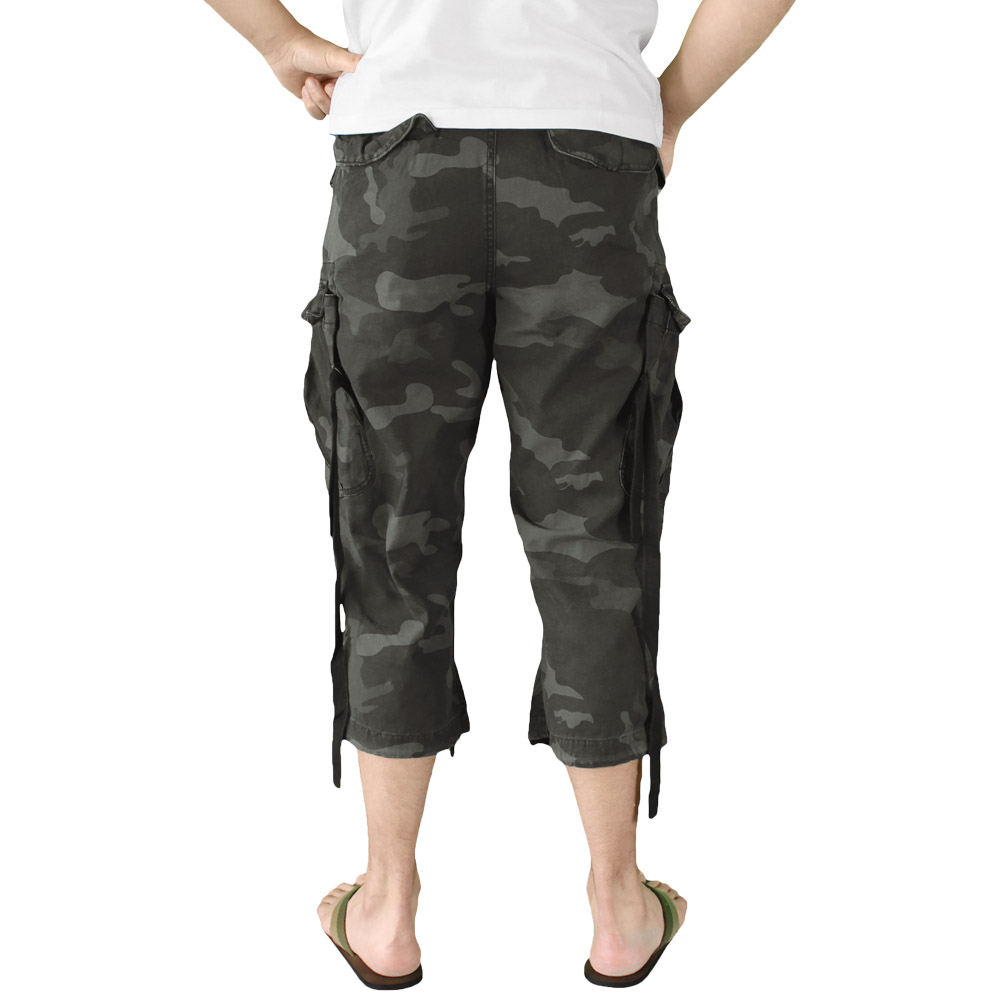 Surplus Engineer Army Vintage Style 3/4 Mens Combat Long Cargo ...