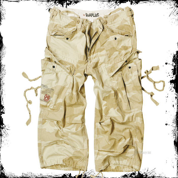SURPLUS-US-MILITARY-ENGINEER-3-4-MENS-LONG-SHORTS-COMBAT-CARGO-DESERT-STORM-CAMO