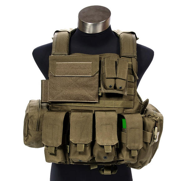 Flyye Force Recon Vest with Pouch Set ver. Land Coyote Brown