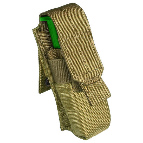 Flyye Single 9mm Magazine Pouch Ver. FE MOLLE Khaki