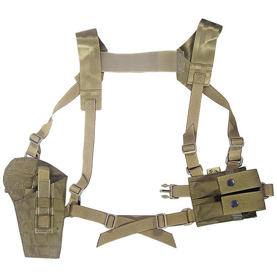 Flyye Shoulder Holster System Panel MOLLE Khaki