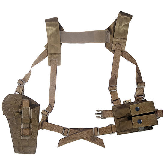 Flyye Shoulder Holster System Panel MOLLE Coyote Brown