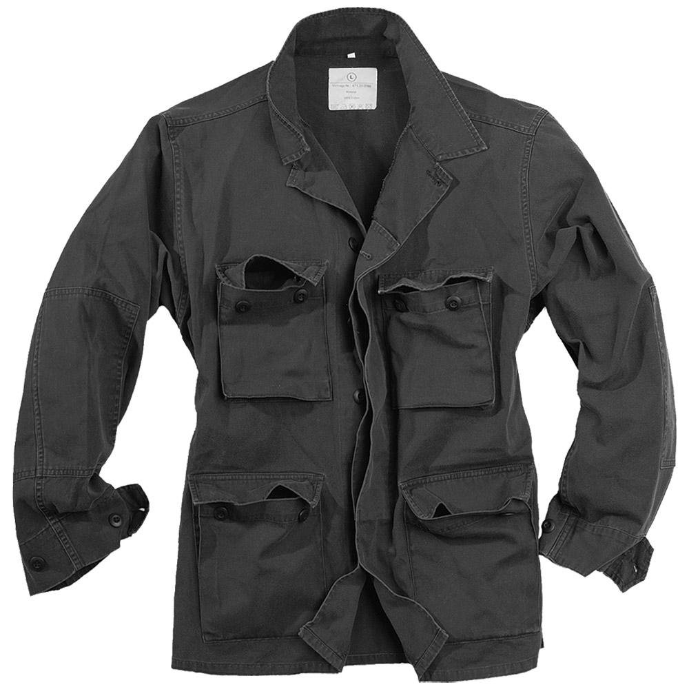 Surplus Military Army Style Lightweight Bdu Mens Cotton Jacket Washed Black Ebay