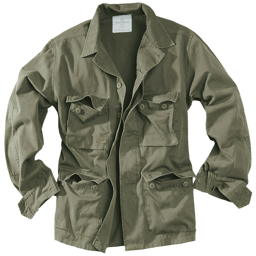 Surplus Army Style Lightweight Bdu Mens Cotton Military Jacket Washed Olive Od Ebay