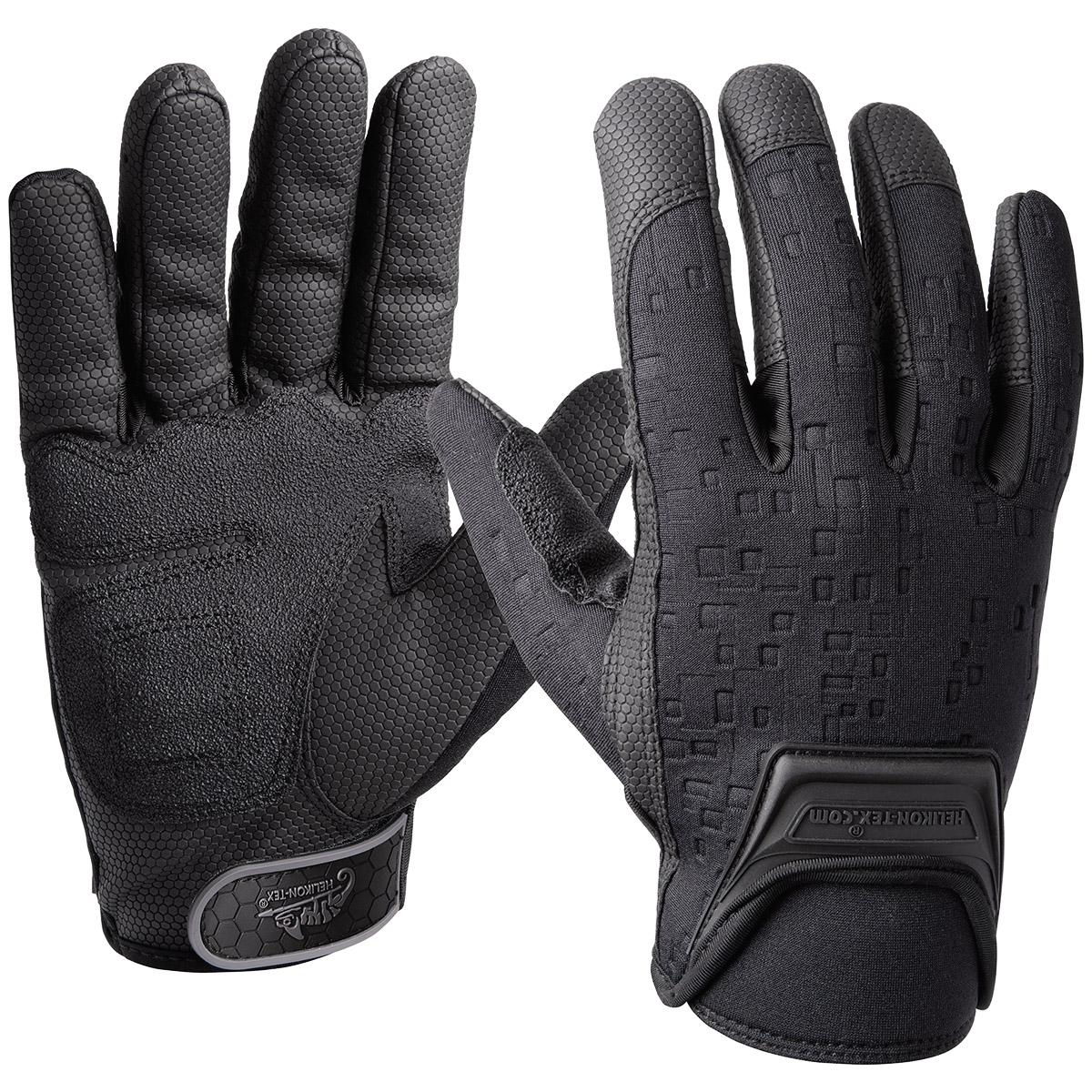 Black tactical gloves - Helikon Utl Urban Tactical Line Gloves Combat Protection