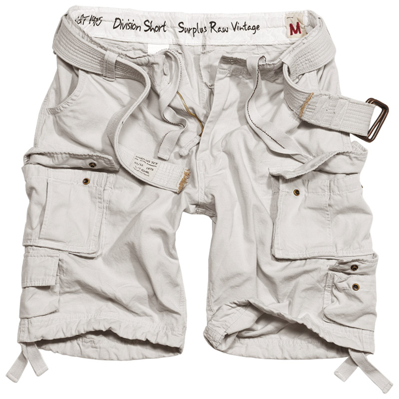 Surplus Raw Vintage Division Cargo Army Combat Mens Shorts   Belt ...