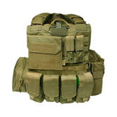 Flyye Force Recon Vest with Pouch Set ver. Mar Khaki