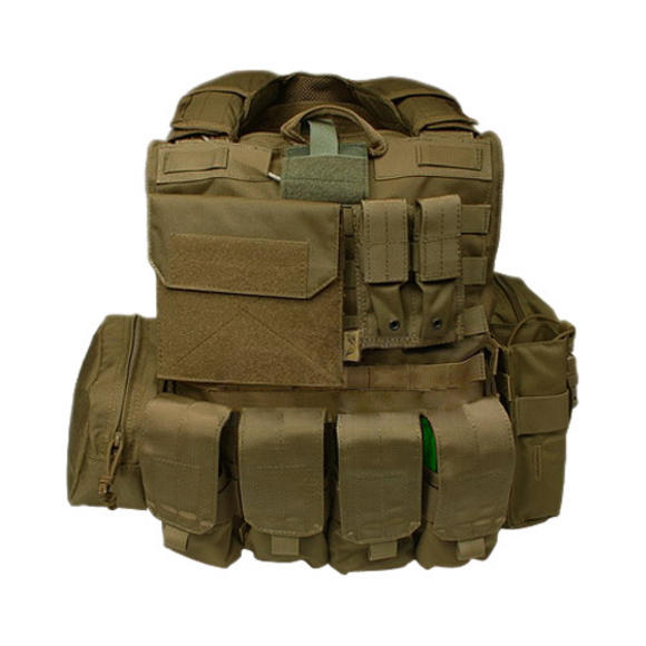 Flyye Force Recon Vest with Pouch Set ver. Mar Coyote Brown