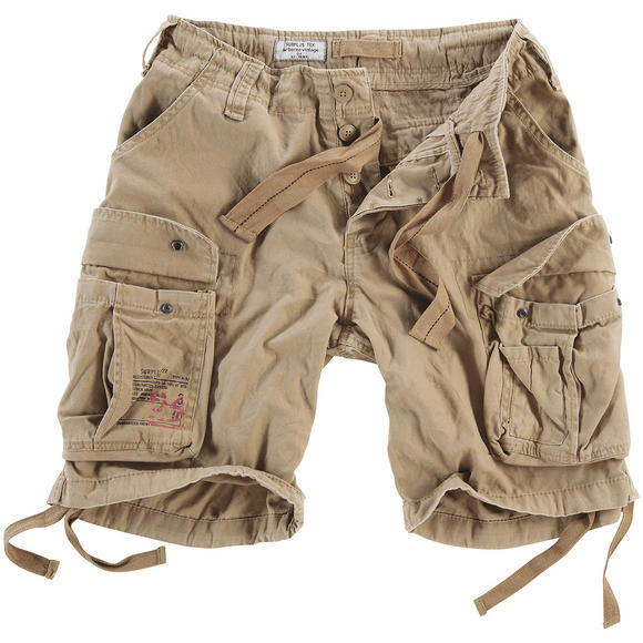 surplus airborne vintage shorts washed beige. Black Bedroom Furniture Sets. Home Design Ideas