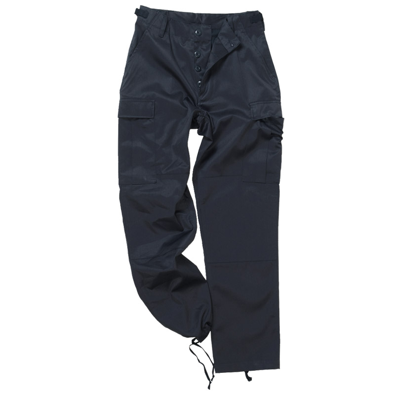 Action combat trousers by Carabou, Perfect for the great outdoors or workwear, Side elastic for that extra bit of comfort, Water repellent finish, Heavy Gauge zips, Both open and zipped pocket to the front, Cargo pocket to the side, Two zipped pockets to the rear, Made from 65% polyester / 35% cotton, Machine washable, Also available in black.