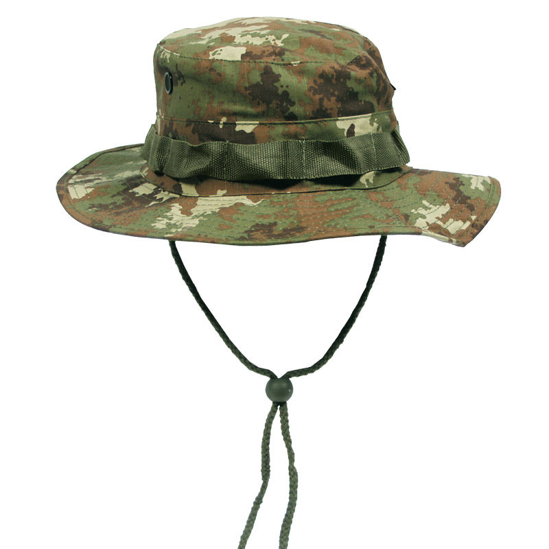 Military gi boonie army bush hat cotton ripstop fishing for Camo fishing hat