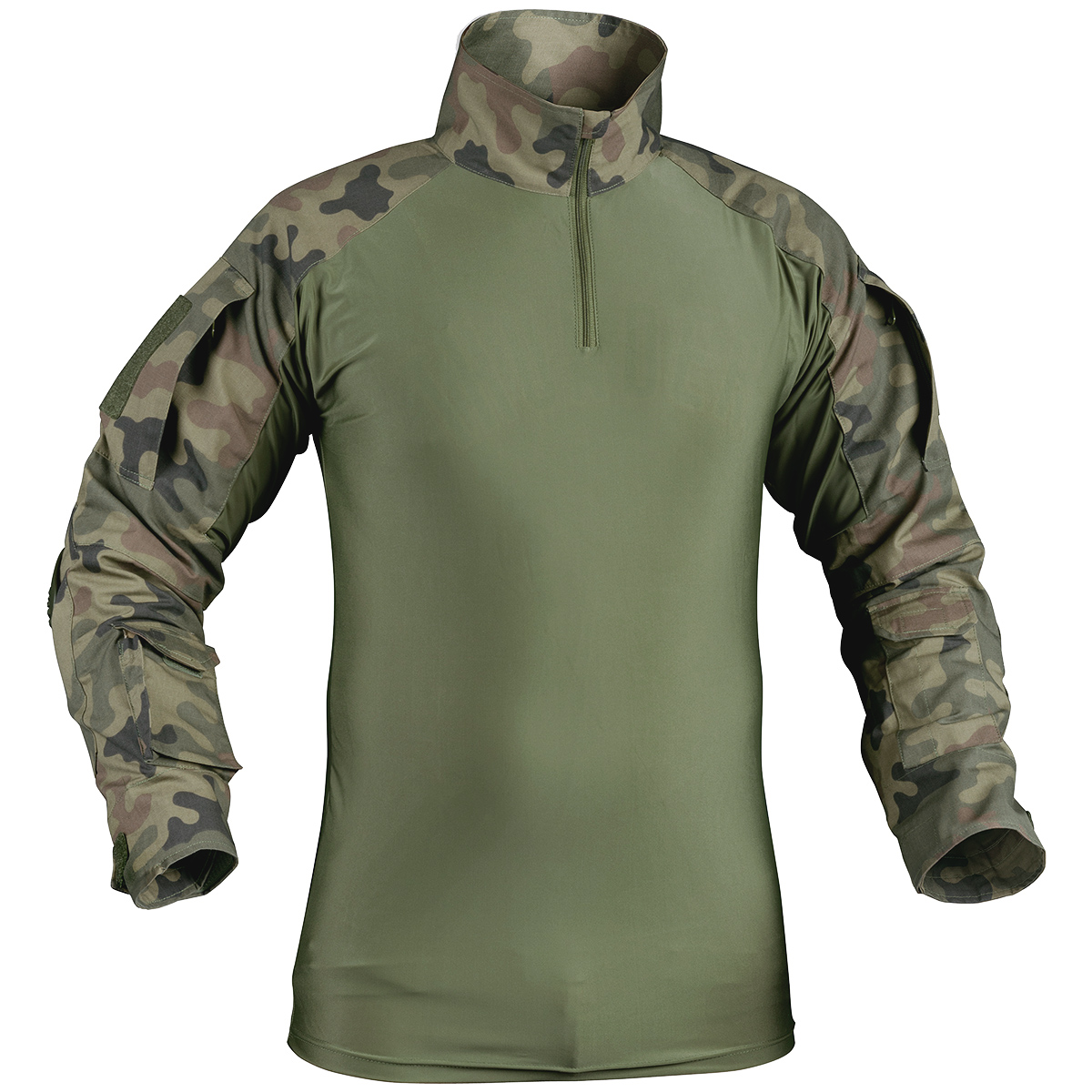 HELIKON TACTICAL ARMY MILITARY COMBAT SHIRT WITH ELBOW PADS POLISH WOODLAND CAMO