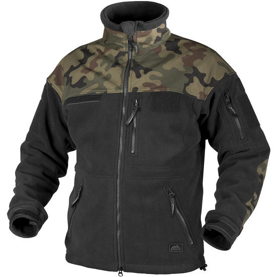 Helikon Infantry Duty Fleece Jacket Black / Polish Woodland