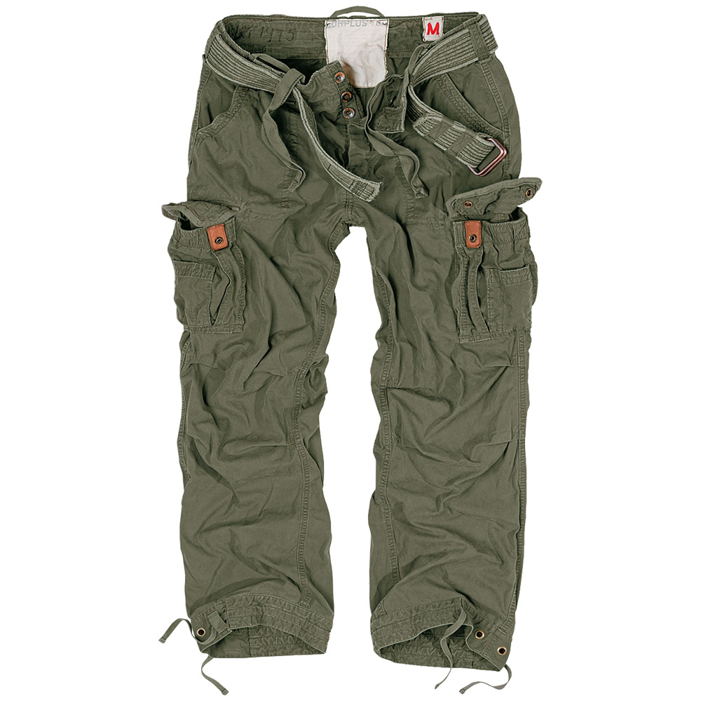 SURPLUS-PREMIUM-RAW-VINTAGE-TROUSERS-MENS-COMBATS-WORK-PANTS-CASUAL-CARGOS-OLIVE
