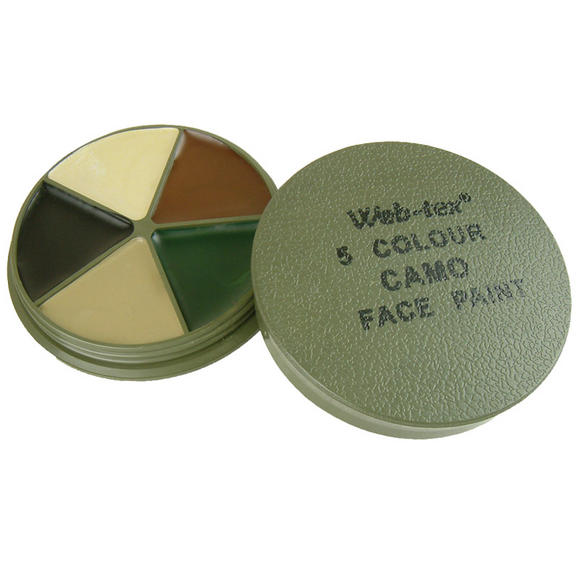 Web-Tex Multi Terrain Face Paint 5 Colours with Mirror