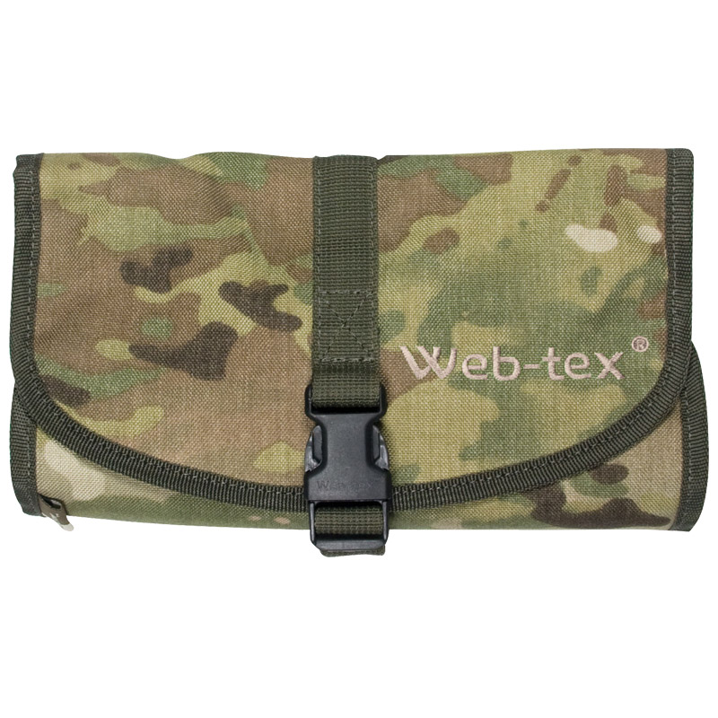 WEB-TEX MILITARY FOLDING COMPACT WASH BAG HIKING CAMPING TRAVEL GENUINE MULTICAM