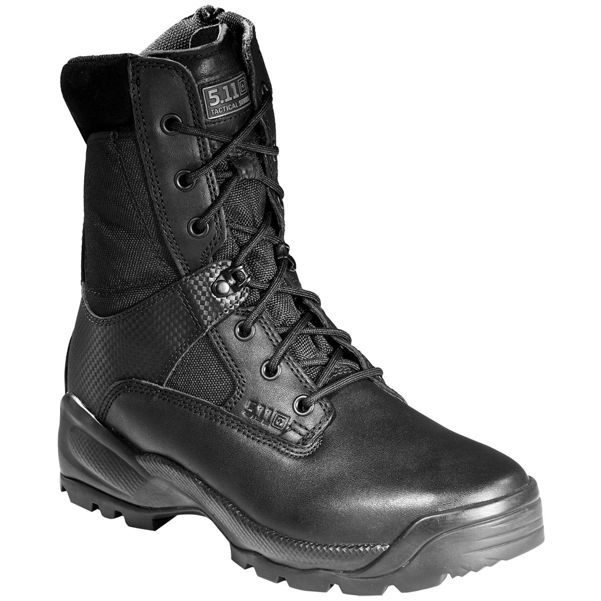 5.11 Tactical ATAC 8u0026quot; Side Zip Mens Boots Patrol Police Security Guard Black | EBay