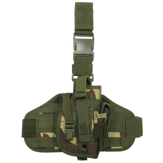 MFH Tactical Leg Holster MOLLE Woodland