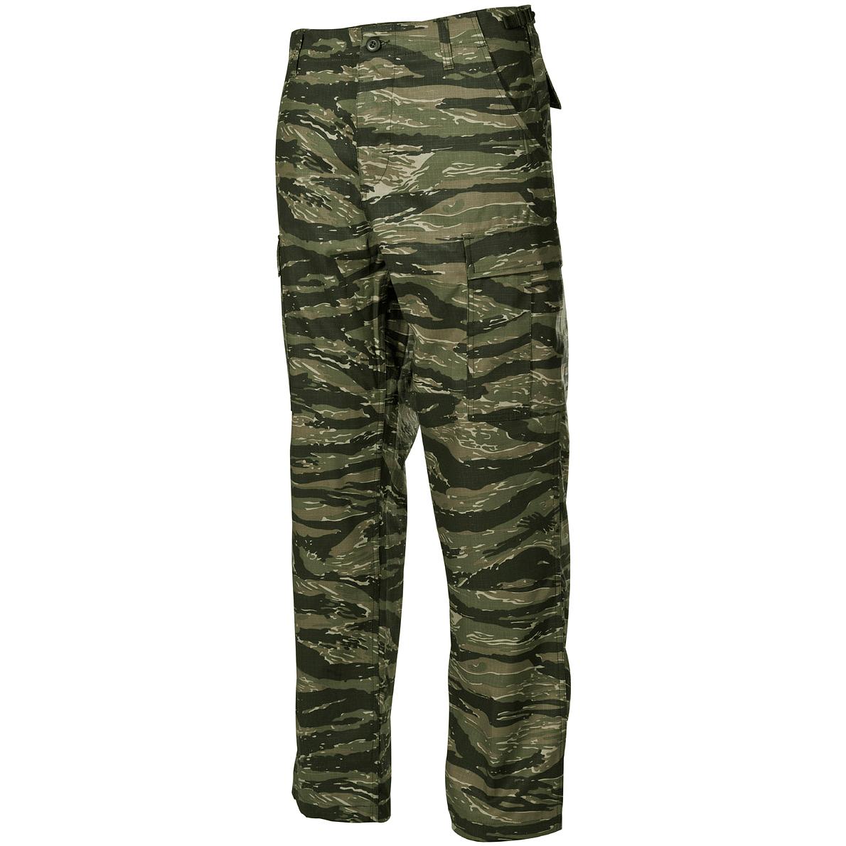 Classic Vietnam BDU Combat Trousers Mens Cargo Pants Ripstop Tiger Stripe Camo