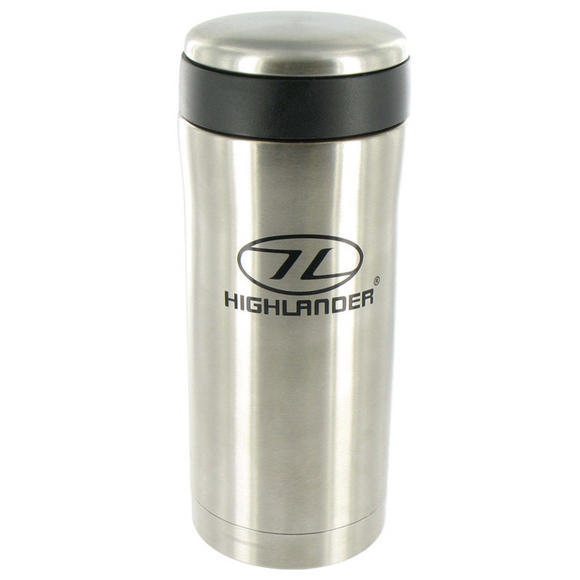 Highlander Sealed Thermal Mug Silver