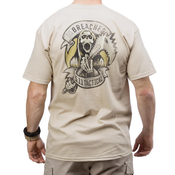 5.11 Breacher Logo T-Shirt Tan