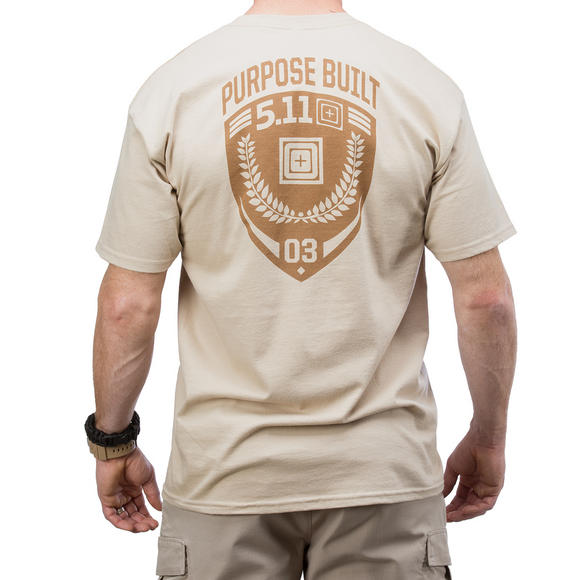 5.11 Purpose Built Logo T-Shirt Tan