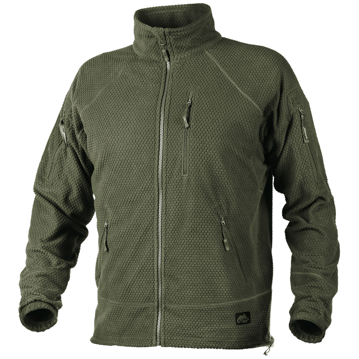 Helikon Alpha Tactical Grid Fleece Jacket Olive Green | Fleeces ...