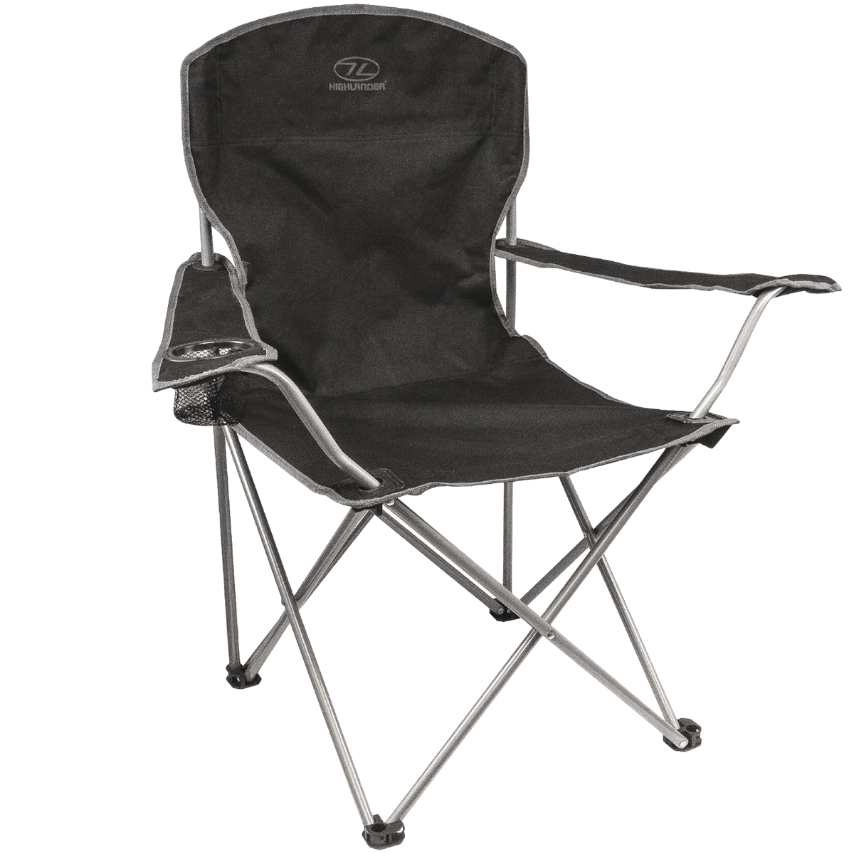 Highlander Folding Camp Chair Black Black