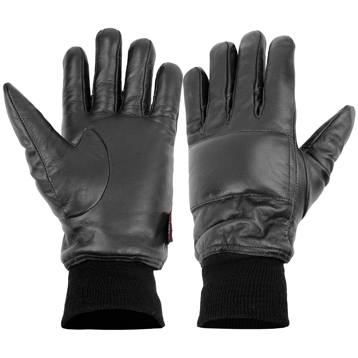 HIGHLANDER TACTICAL MENS NI ARMY GLOVES WARM PADDED LEATHER POLICE GLOVE BLACK