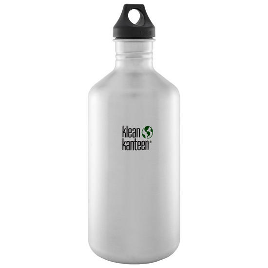 Klean Kanteen Classic 1900ml Bottle with Loop Cap Brushed Stainless