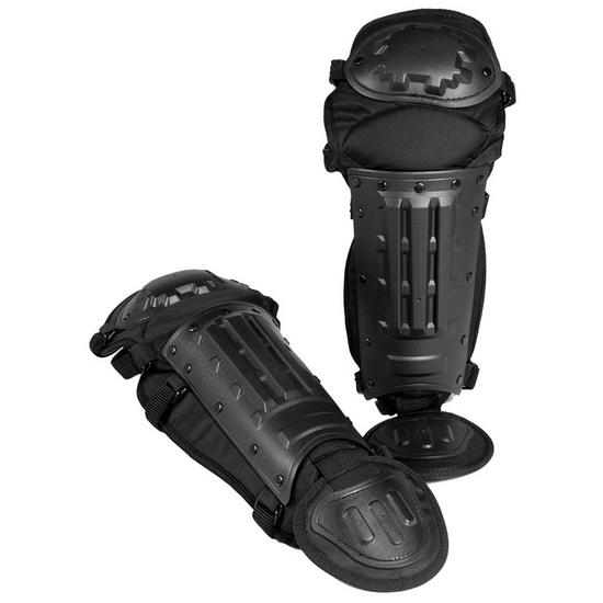 Mil-Tec Anti-Riot Leg Guards Black